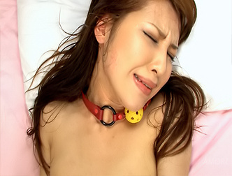 Cute ayaka mizuhara bound and plugged with toys and a stiff 6